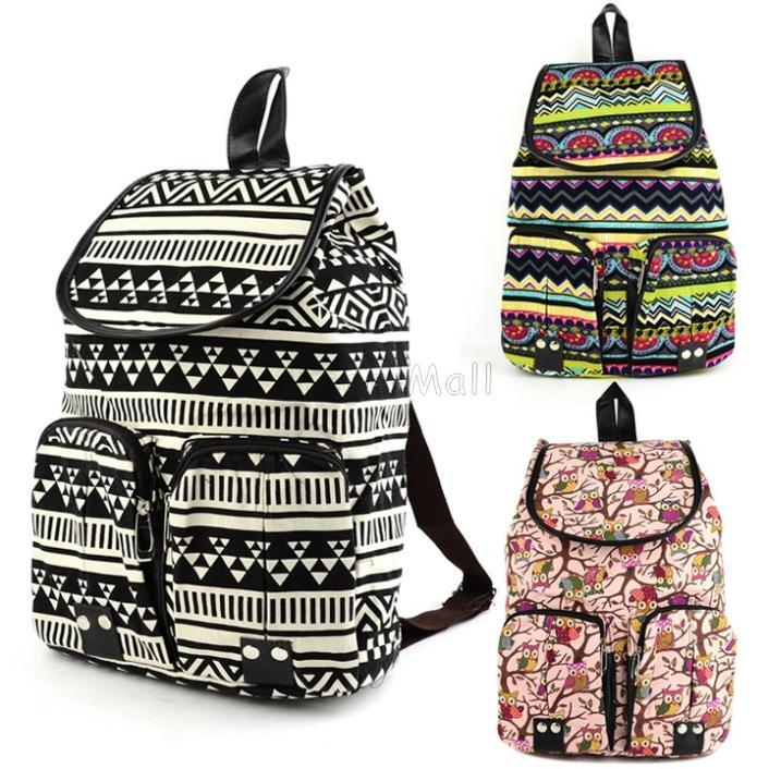 Wholesale 2015 Korean Vintage Floral Printed Backpacks For Teenage ...