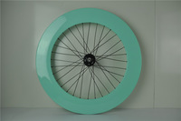track disc wheel rear wheel Fixed Gear 88mm clincher paint finish glossy free shipping