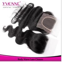 Body Wave Virgin Brazilian Hair Closure,100% Human Hair Lace Closure 4x4,Aliexpress Yvonne Hair Products,Natural Color 1B