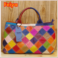 PROMOTION New Fashion Designers Handbags Plaid Patchwork Women Bags COW LEATHER Tote BAGS K463