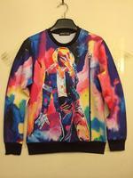Women 3d Print Pullover Hoody Sweater American rock singer Michael Jackson Printed Hoodies Sweatshirts Tops M L XL Plus Size