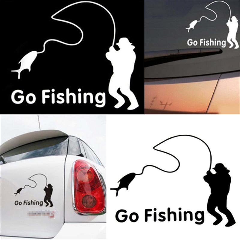 наклейка на заднее стекло автомобиля рыбалка
