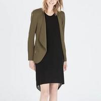 New Fashion Ladies' elegant green OL Blazer suit vintage long sleeve zipper coat casual slim outwear brand designer tops