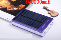 Mobile power supply 100000mAH Energy saving Solar Charger 2 Port External Battery Pack Power Bank For Cellphone iPhone 4 #15