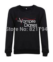 2014 top sale fashion men/women sweatshirts The Vampire Diaries logo Custom Personalized Mens hoodies hoddes design print fleece