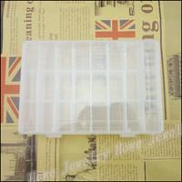 Wholesale Hot Portable 24 Lattice Transparent Plastic Box Grids Jewelry Storage Box  Makeup  Jewelry Box