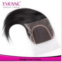 Straight Brazilian Hair Closure,100% Virgin Hair Lace Closure 4x4,Aliexpress Yvonne Human Hair Products,Natural Color 1B