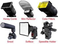 Godox 6-in-1 Speedlite Flash Accessory Kit with Softbox/ Filters/ Reflector/ Flash Light Beam Honeycomb/ Snoot/Speedlite Holder