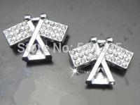 Wholesale 100pcs/lot 10mm rhinestones Banner slide charm diy accessories