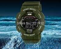 2014 Hot Men Sports Watches Skmei Military Watch Swimming LED Digital Multifunctional Wristwatch 50M Waterproof Student Clocks