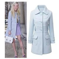2014 new winter woollen coat women casacos femininos women's long wool winter coats high quality overcoats free shipping