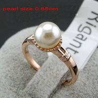 ladies pearl Ring for women ,18k gold plated finger rings ,2014  Daily wear jewelry