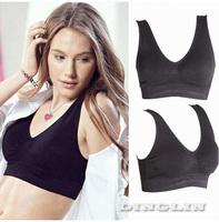 Fashion Sexy Women Ladies Comfort Padded Crop Top Vest Gym Fitness Yoga Dance Sports Bra Underwear Brassiere Free Shipping 5042