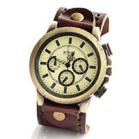 Fashion Men Big Dial Watch Face Round geniune Leather Casual Wristwatches for women quartz clock 2014 new W1683