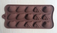 Free shipping shell type Muffin Sweet Candy Jelly fondant Cake chocolate  Mold Silicone tool Baking Pan- B195