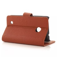 Litchi wallet leather Case Cover For  Nokia Lumia 530 with stand and card slot