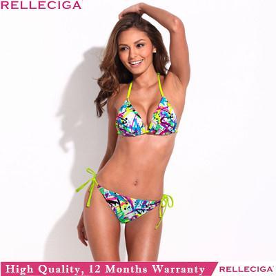 RELLECIGA Bikinis Set Push Up Bikini Triangl Women Swimwear Swimsuit Biquini Triangle Bathing Suit Bikini For Women 033132020(China (Mainland))