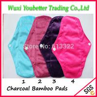 New Patterns Cloth Menstrual Pads Charcoal Bamboo  Sanitary Napkins Mama pads Washable