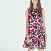 New Fashion Ladies' Elegant colored print Dress sexy O-neck sleeveless casual slim evening party brand designer dress