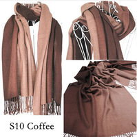 High Quality 100% Acrylic tasse lecharpe shawl women winter 2014 brand new desigual gradient pashmina scarf 180x65cm 16style