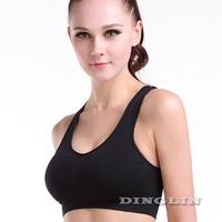 Sexy Women Ladies Feminine Halter Seamless Padded Crop Top Shapewear Fitness Underwear Yoga Dance Sport Bra Free Shipping 5043