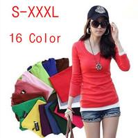 Plus size women blouse 2014 fashion women's clothing tops ladies milk silk white Blouses female spring long sleeve Shirts W00244