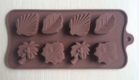 Free shipping  leaf  type Muffin Sweet Candy Jelly fondant Cake chocolate  Mold Silicone tool Baking Pan- B196