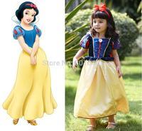 Quality 2014 Kids Baby Girl Dress Snow White Princess Dresses Cosplay Costumes Fantasias Children Cosplay Dress Vestidos