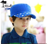 baseball caps new autumn super cute pentagram bear flat top premium cotton hat (5PC/LOT) 4 colors available fashion caps MZ2052