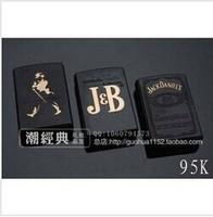 Black British Style Metal Windproof Lighter JD Jack Daniels lighter smoking Black label