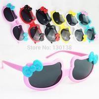 2014 Outdoor Sunglass Female Child Sun shading Bow Sunglasses For Girls Decoration Sun Glasses Fashion