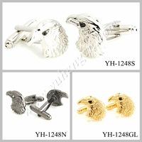 Free Shipping ! YH-1248N Black Eagle Fashion Animal Cufflinks-Mixed Styles Acceptable