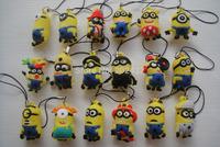 50pcs/lot  pvc yellow  minion action figures toy random mixed