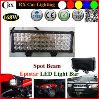 "9V-32V 18"" 168W CREE LED Work Light Bar 14280LM offroad Boat Truck 4WD SPOT Super Bright,Good Price Car Led Lights Lamp"