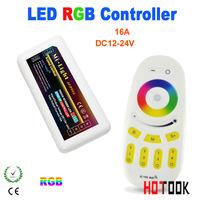 Wholesale 2014 New Mi. light  2.4Ghz touch screen RGB led controller led panel strip bulb RF 4-zone Remote control x 60pcs