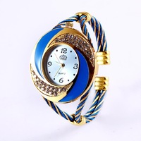 Free shipping 2014 New Fashion elegant  Bracelet Watch for Women Dress Watch Black Rhinestone Wristwatch on Sale