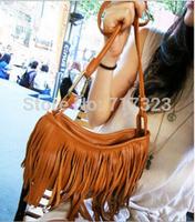 Free shipping 2014 hot selling women's fashion Messenger Bags, Tassel one shoulder handbag
