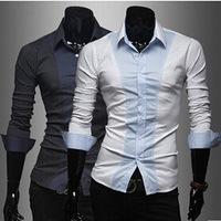 M-2XL Winter Men Shirt 2014 New Top Fashion Men's Polka Dot Long Sleeve Shirts Leisure Shirts Dress Business Male Camisa AX829