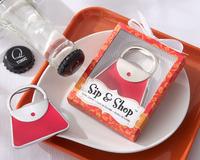 Freeshipping Beautiful Bag Bottle Opener Wedding Favors Gift 10PCS/LOT
