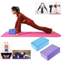 Yoga Block Brick Aerobic Pilates Foam Exercise Fitness Health Gym Sport Tool(Random Color)