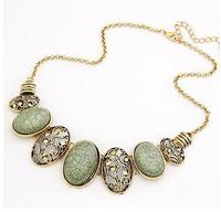 Vintage Gold Alloy Geometric Hollow Collar Choker Statement Necklaces & Pendants New 2014 Fashion Jewelry Women Wholesale N123