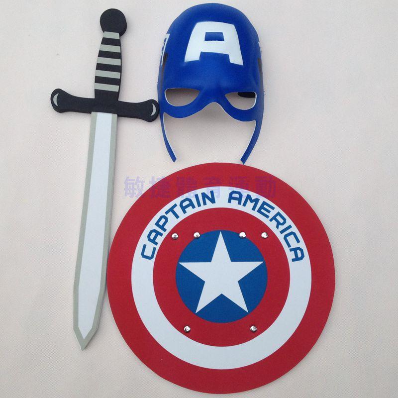HOT Captain America shield mask EVA suit sword warrior toys free shipping(China (Mainland))