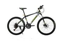 Kawasaki mountain bike 26-inch 21-speed double disc brake variable speed drive student bicycle Russia free shipping