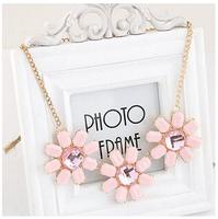 Candy Shourouk Gem Geometric Flower Collar Choker Statement Necklaces & Pendants New 2014 Fashion Jewelry Women Wholesale N194