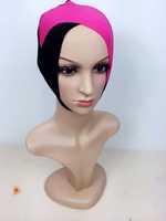 a752 two colors cross design cotton hot sale muslim ninja inner cap underscarf