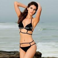 2014 Summer Triangle Halter beach strand empty bandage gather small chest bikini swimsuit