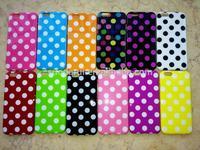 Fashion Polka Dot Flex Gel TPU Skin Case for iPhone 6-Suodarui