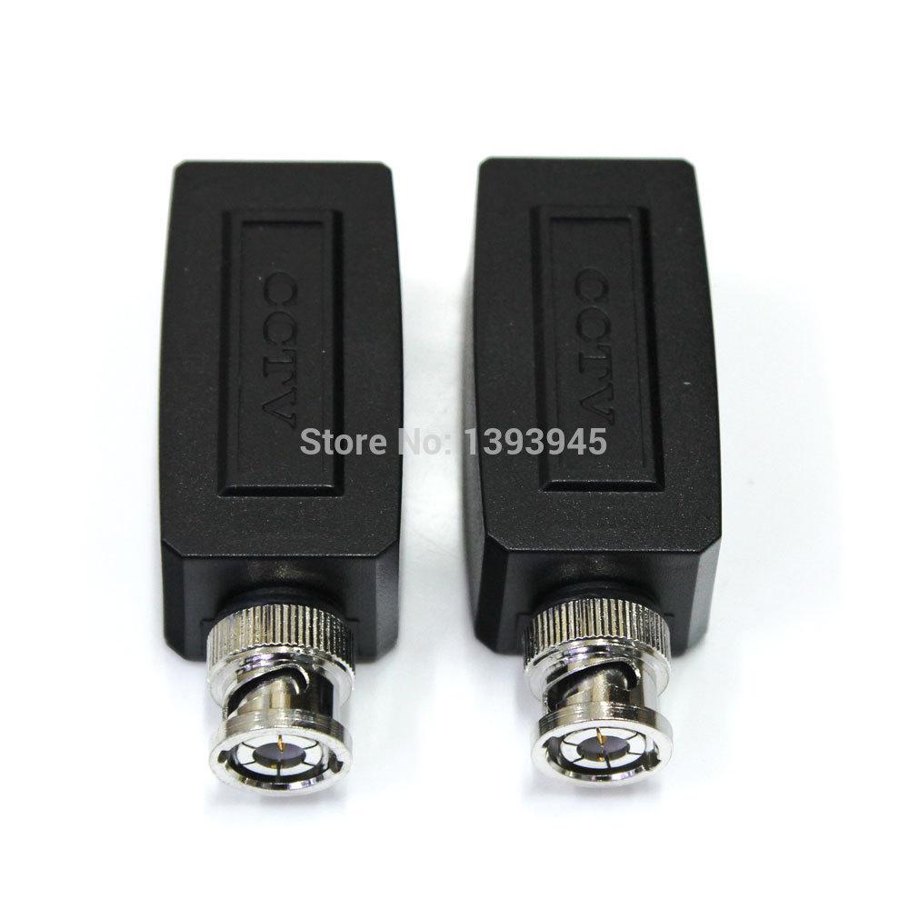 1pair Coax BNC RJ45 UTP Cat5 Active Video Balun Transceiver Pair for CCTV Camera(China (Mainland))