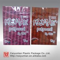 Newest 3XXX kliamx herbal incense bag with strawberry,blueberry,bubble gum ,mango flavors, 10g klimax 3 XXX herbal potpourri bag