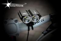 Freeshipping Hot 5000Lumen 2x CREE XM-L U2 LED Cycling Front Bicycle bike Light Lamp Headlight Headlamp+12000mAh+ Headband